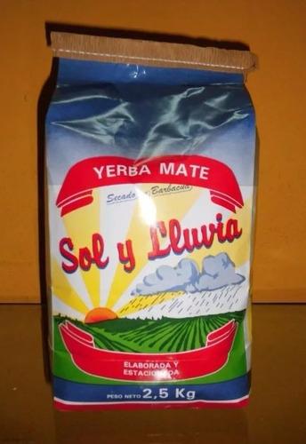 yerba sol y lluvia barbacuá x 2.5 kg super oferta