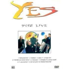 yes 9012 live - dvd original semi-novo