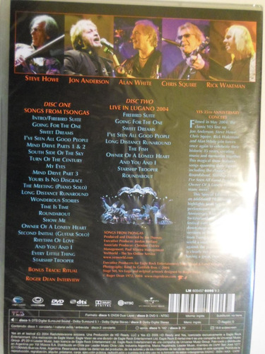 yes - songs from tsongas - 35th aniversary concert - 2 dvd