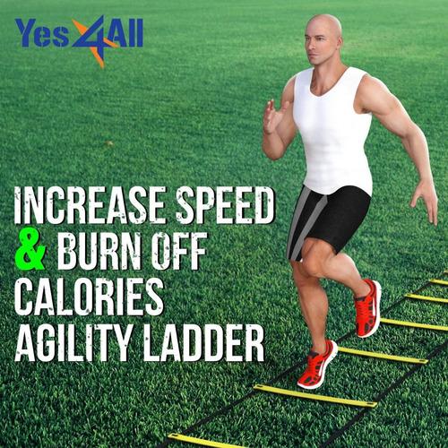yes4all escalera de agilidad 12 peldaños entrenamiento