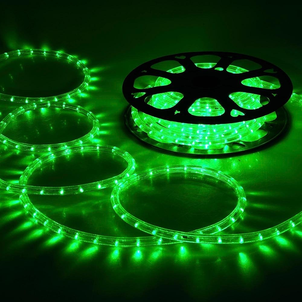 Yescom 150ft green 2 wire led rope light indoor outdoor home yescom 150ft green 2 wire led rope light indoor outdoor home cargando zoom aloadofball Image collections