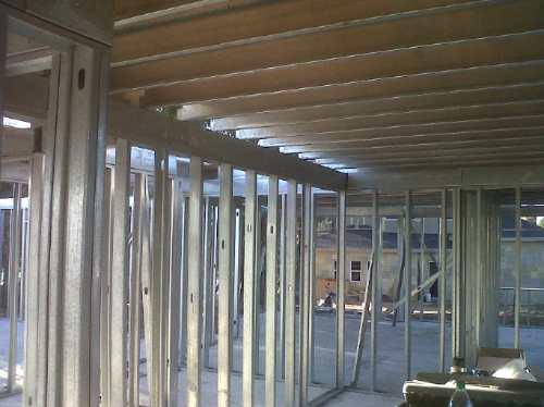 yeso steel framing pvc - revestimiento tabiques  cielorraso