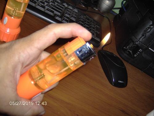 yesquero linterna led no traen pilas gas butano cigarro