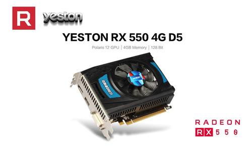 yeston rx550--4g d5 tarjetas gráficas radeon chill 4gb memor