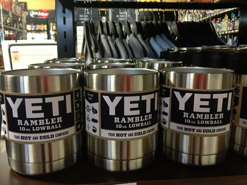 yeti rambler lowball cooler 10oz hasta 10 horas frio 300ml