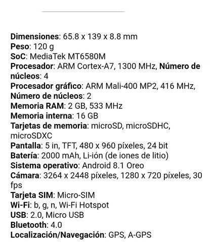 yezz max 1 dual sim 16gb 2gb ram 4 nucleos 1300mhz precio 80
