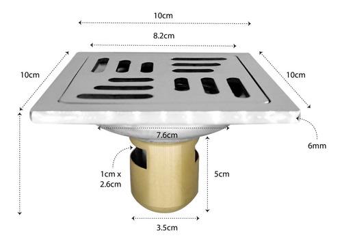 yf660-8-6p coladera 10cm acero inox anti-olores 6mm