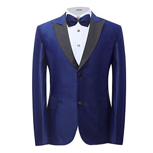 Yffushi - Trajes De Color Rojo   Azul Marino Para Hombre ... 02d189663419