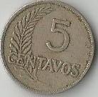 yh 2 antiguas monedas de cinco centavos años 1934-1935