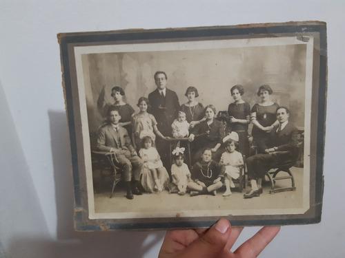 yh antigua foto familiar familia año 1900 aprox cambio