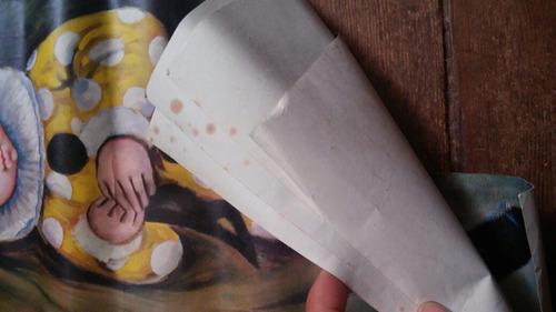 yh antiguas litografias pinturas de payasos para enmarcar