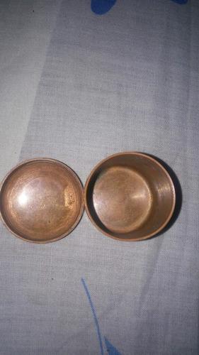 yh antiguo cofre souvenir bronce chile miniatura cambio