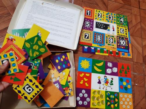 yh antiguo juego de mesa la tombola de los numeros memoria