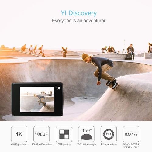yi discovery action 4k sports cam con 2 0 pantalla táctil...
