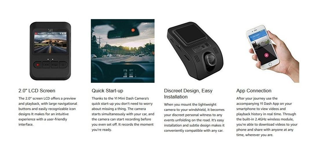 Yi Mini Dash Cam, 1080p Fhd Dashboard Carro Camioneta Video