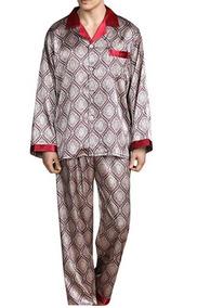 7823cfe5f Yimanie Set De Pijama De Hombre Tipo Seda De Poliester Red S