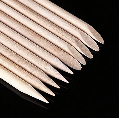yimart 50pcs uñas art removedor empuje la cutícula manicura