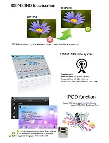 yinuo 7 pulgadas wince pantalla táctil 6.0 estéreo 2din coch