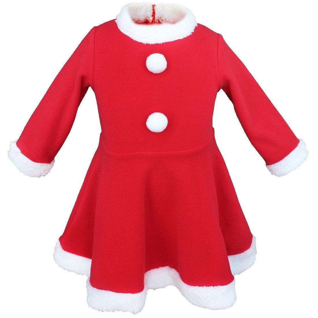 Yizyif Bebe Ninas De Navidad Papa Noel Vestido De Lujo Con S - Bebes-vestidos-de-papa-noel
