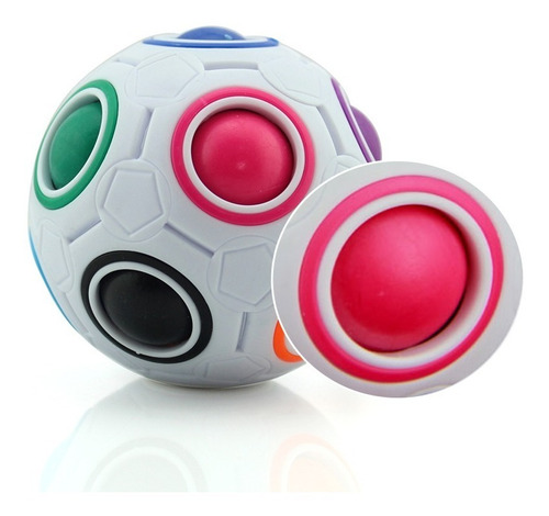 yj pelota arcoiris futbol cubo rubik juego mental estuche
