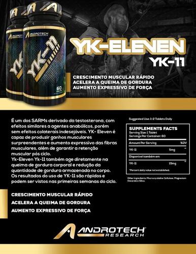 yk11 - androtech research - sarms - 60 caps 15mg - importado