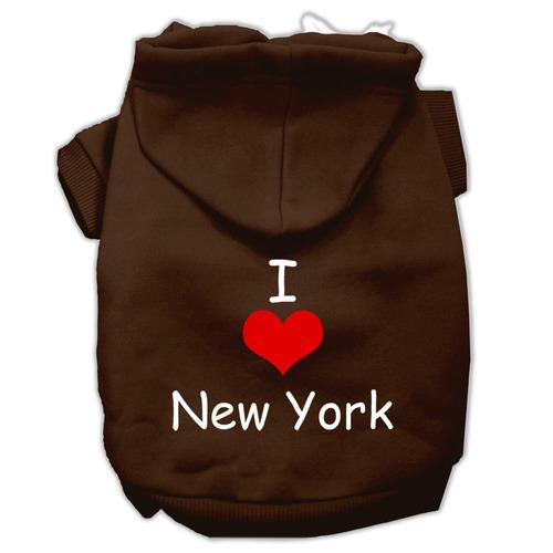 yo amar nuevo york pantalla impresión mascotas marrón tama