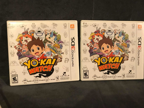yo-kai watch  juego 3ds cajas abiertas (open box )