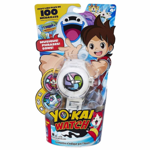 yo-kai watch reloj con medallas coleccionables hasbro tv