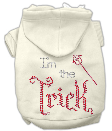 yo la crema capucha truco diamante de imitación hoodies s (