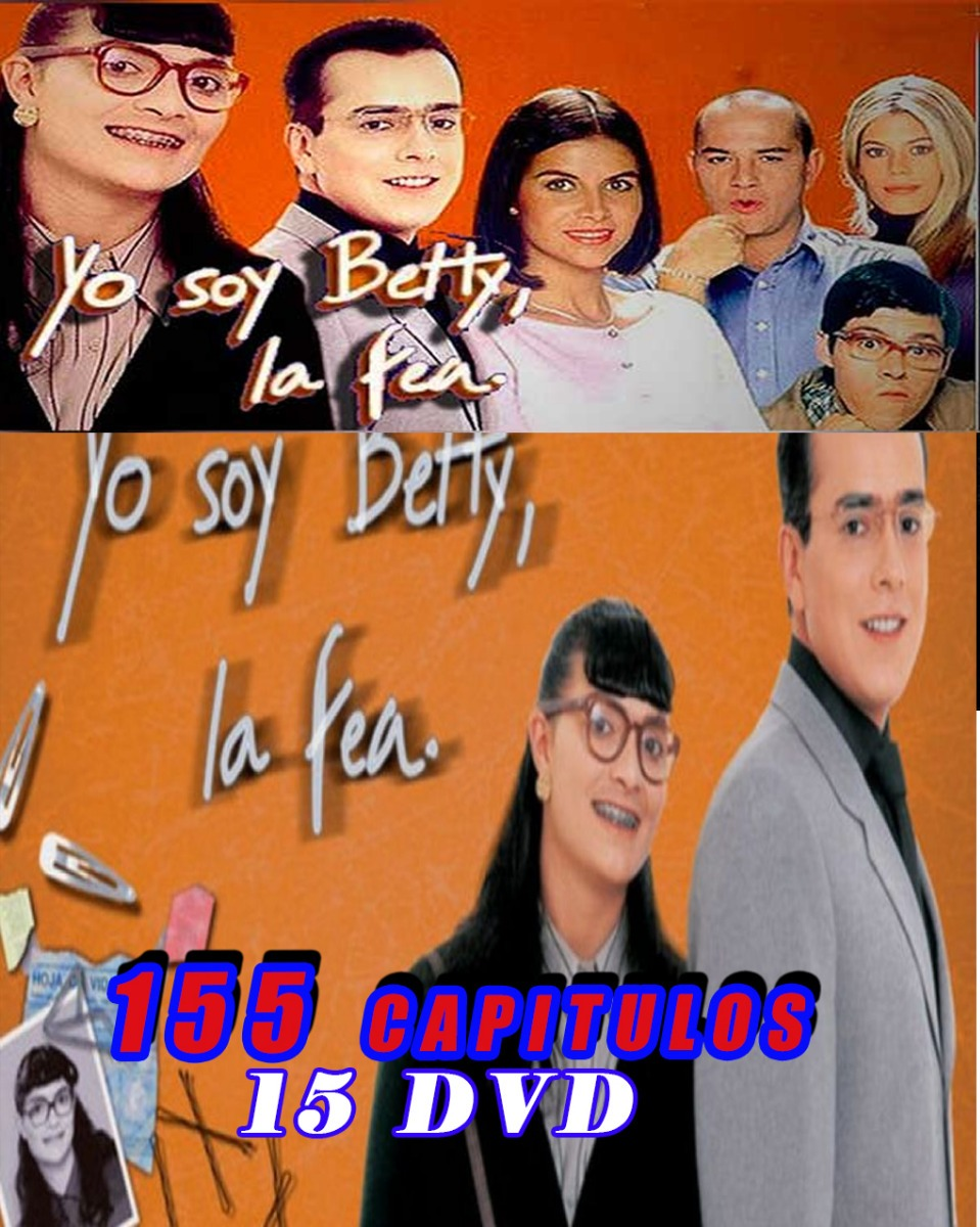 Yo Soy Betty, La Fea  Completa En 15 Dvd Y 155 Capitulos