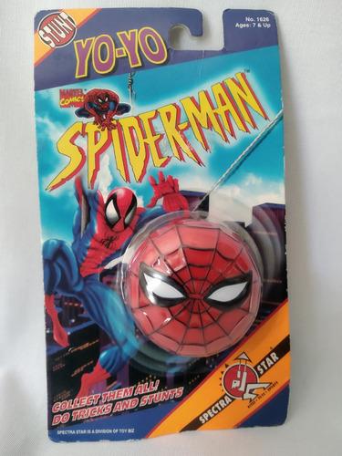 yo yo spiderman toy biz spectra star vintage