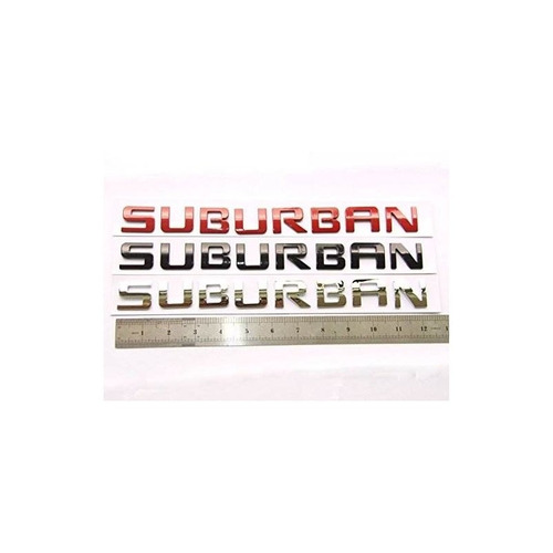 yoaoo® 1x oem chrome suburban placa de identificación emblem