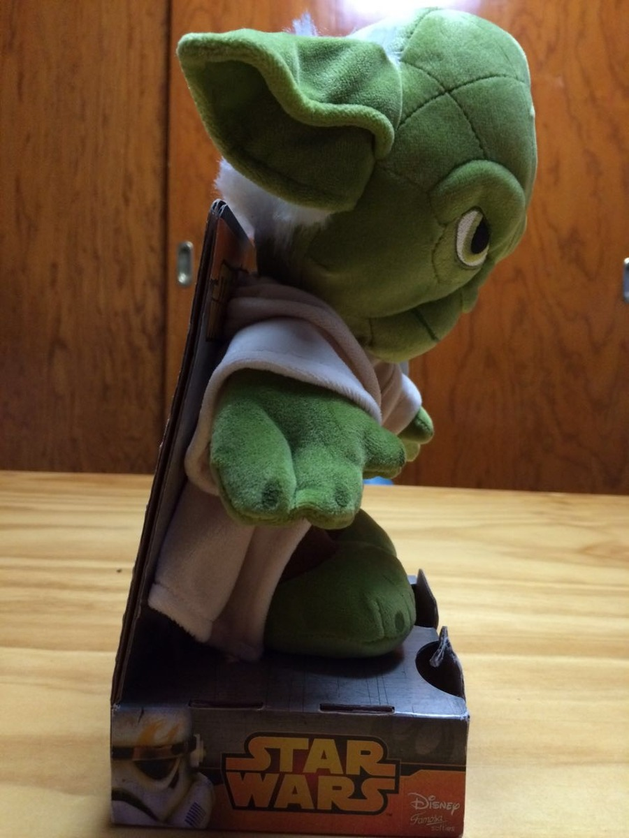 peluche yoda star wars 25 cm nuevo en mercado. Black Bedroom Furniture Sets. Home Design Ideas