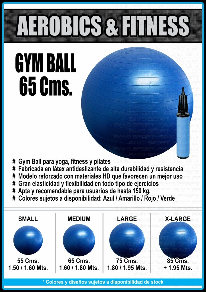 Cargando zoom... pelota reforzada 65 cms - pilates yoga esferodinamia  fitness 9030ec293890