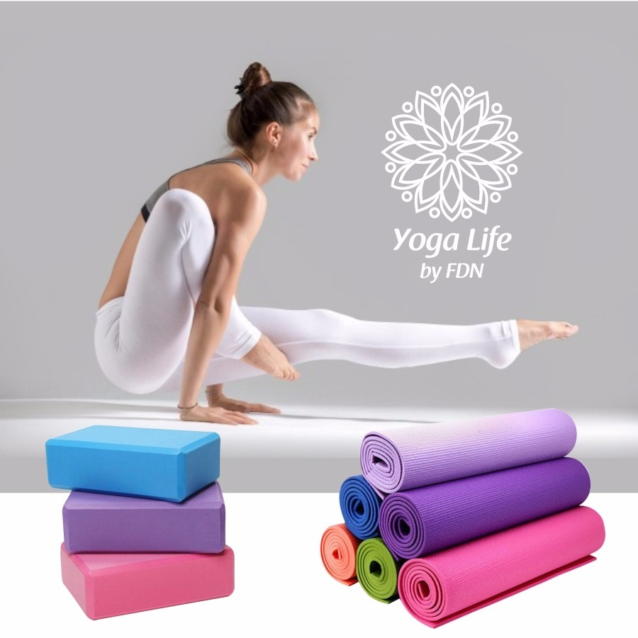 Colchoneta Yoga Mat Pilates 3mm Fitness Yoga Life Fdn -   300 b88a3fc7f8d5