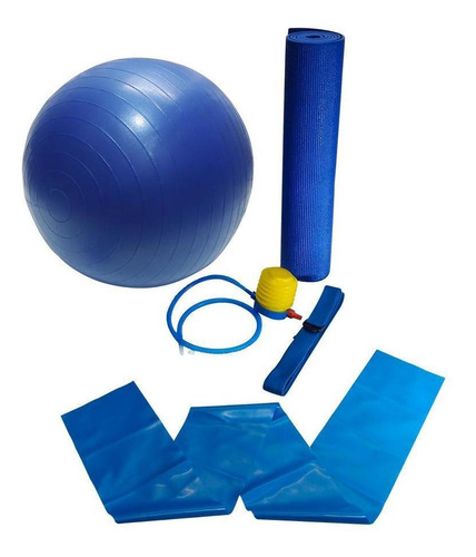 yoga pilates ginastica kit para treino em casa bola tapete