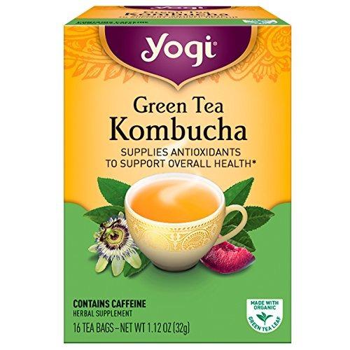 yogi tea kombucha té verde 16 ea
