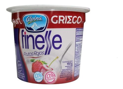 yogurt griego finesse frutos rojos x 150gr
