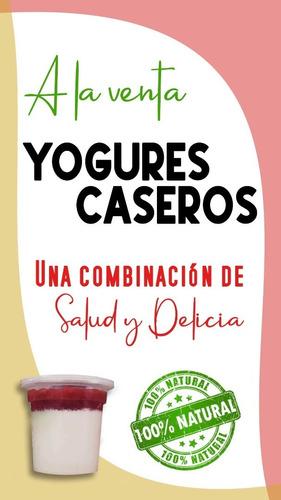 yogurt natural de frutas 100% calidad