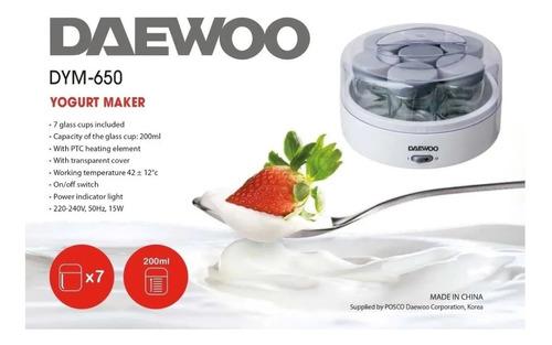 yogurtera daewoo dym650 fabrica de yogurt 7 jarros 160ml