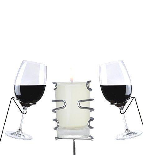 yohino estacas de acero inoxidable para vino - 4 vasos y la