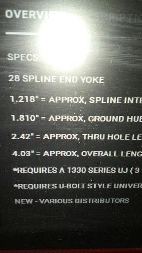 yoke  diferencial  ford f-100 9  1.125  28 estrillas 1330