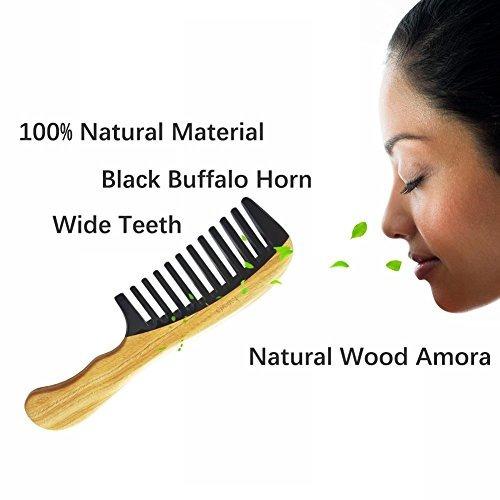 yollodo pelo peine de dientes ancho  no estática aroma natu