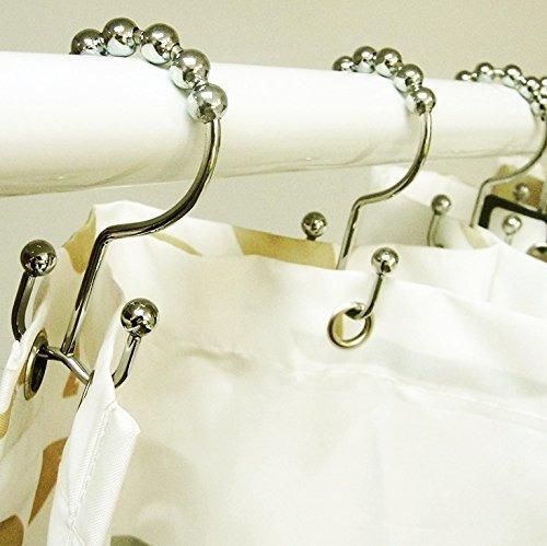 yomym anzuelos de cortina de ducha doble ganchos ocho gancho