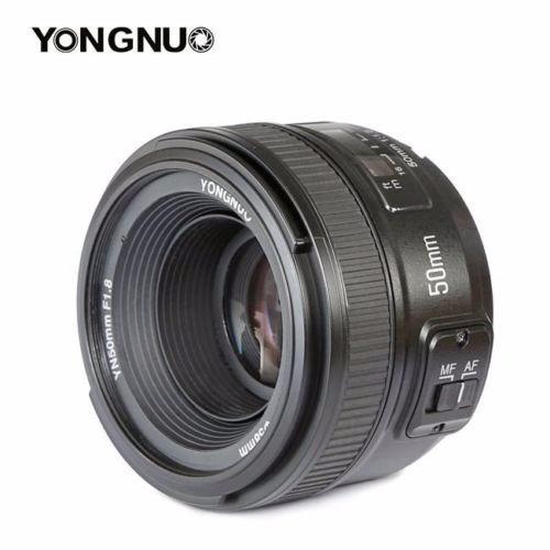 yongnuo para nikon 50 mm f1:1:8+c.rem+parasol+funda+filtrouv