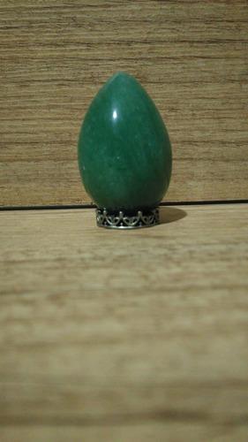 yoni egg de obsidiana + quartzo rosa + q verde sem furo