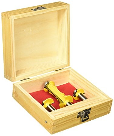 Yonico 12230 Mitered Door Router Bit Set With Frames And Mol ...