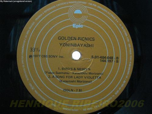 yoninbayashi lp golden picnics + encarte prog japones nac
