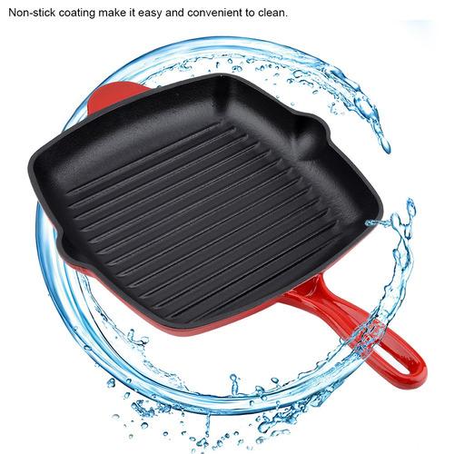 yosoo cast iron frying pan, no-stick pan