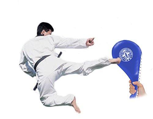 yosoo®pack of 2 taekwondo durable kick pad blanco tae kwon d